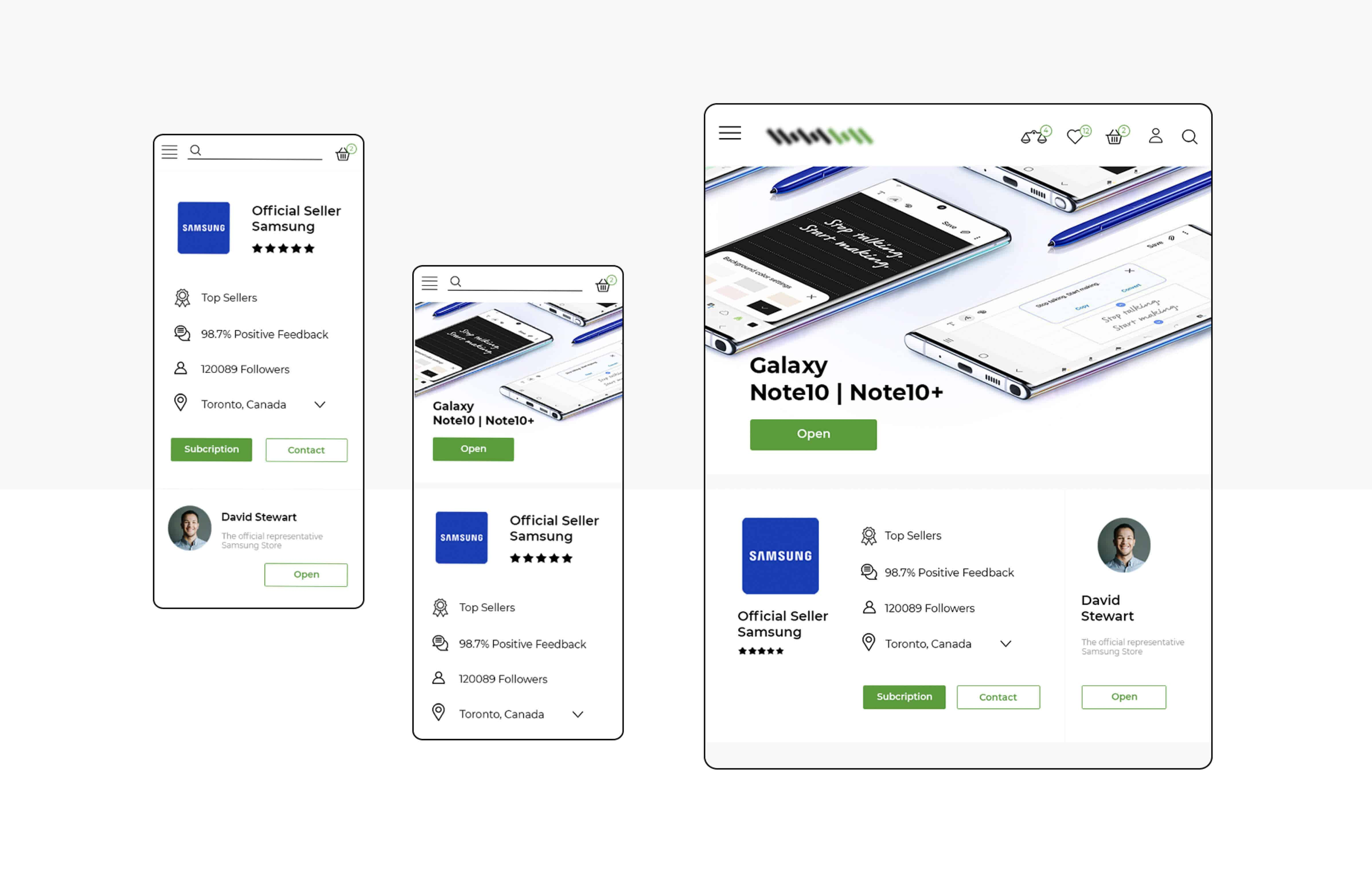 Adaptive version of the marketplace